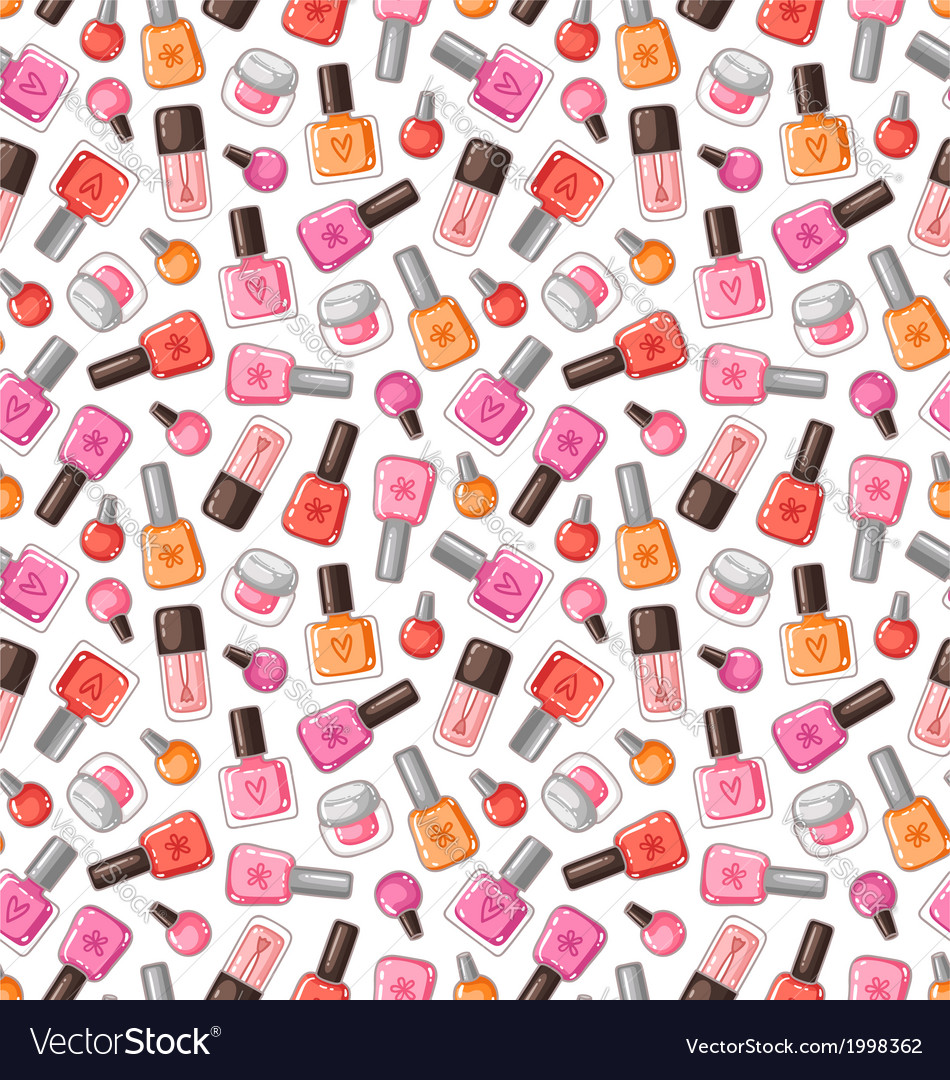 Nail polish pattern vector