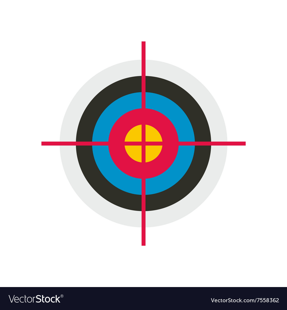 Target colored flat icon vector