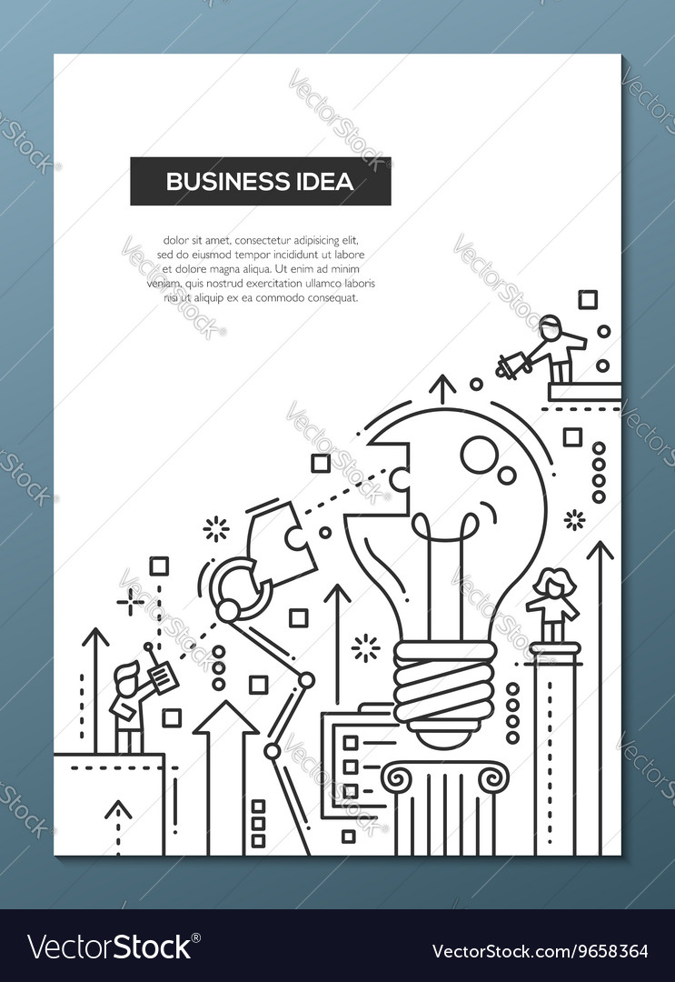 Business idea  line design brochure poster vector