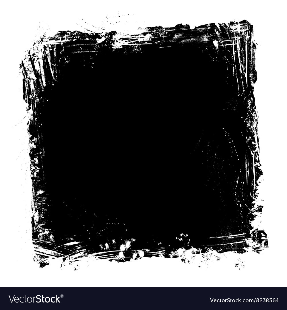 Grunge paint frame vector