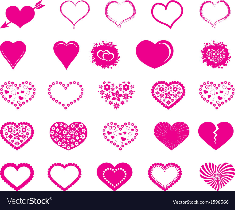 Valentine heart vector