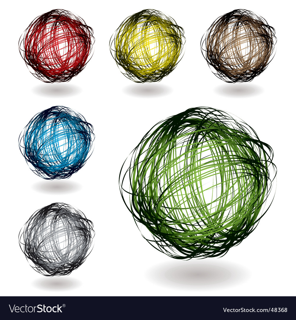 Scribble color variation vector