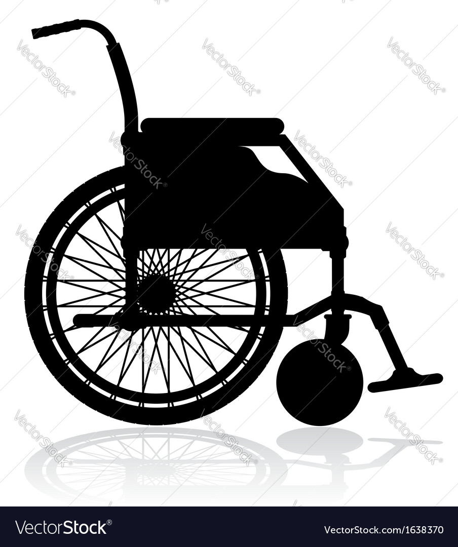 Wheelchair 02 vector