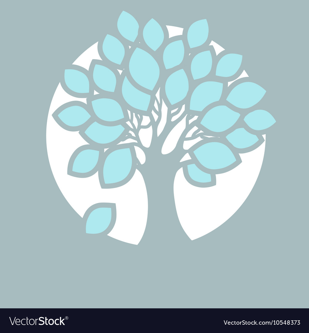 Stylized abstract tree in round vector