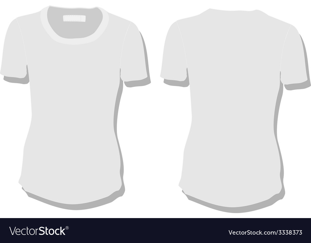 White woman tshirt vector