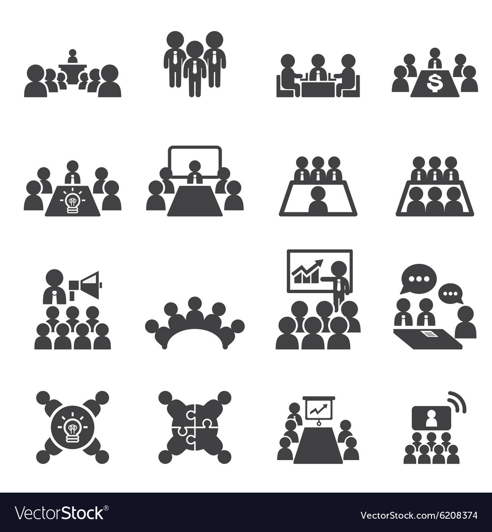 Conference and business icon vector