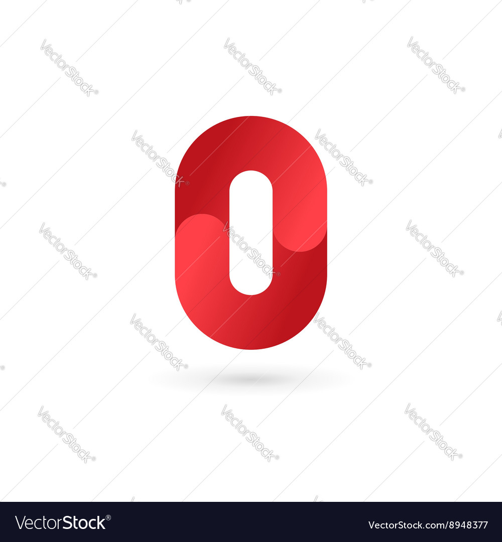 Number 0 logo icon design template elements vector