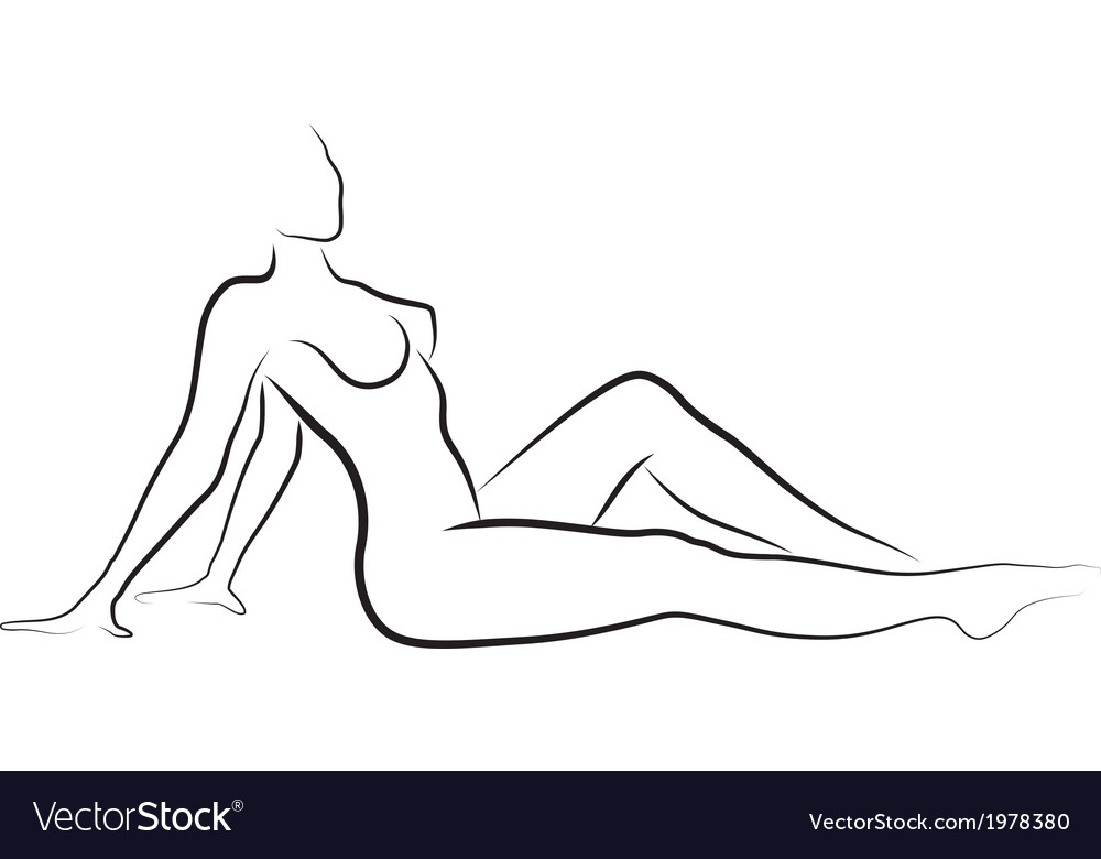 Naked woman vector
