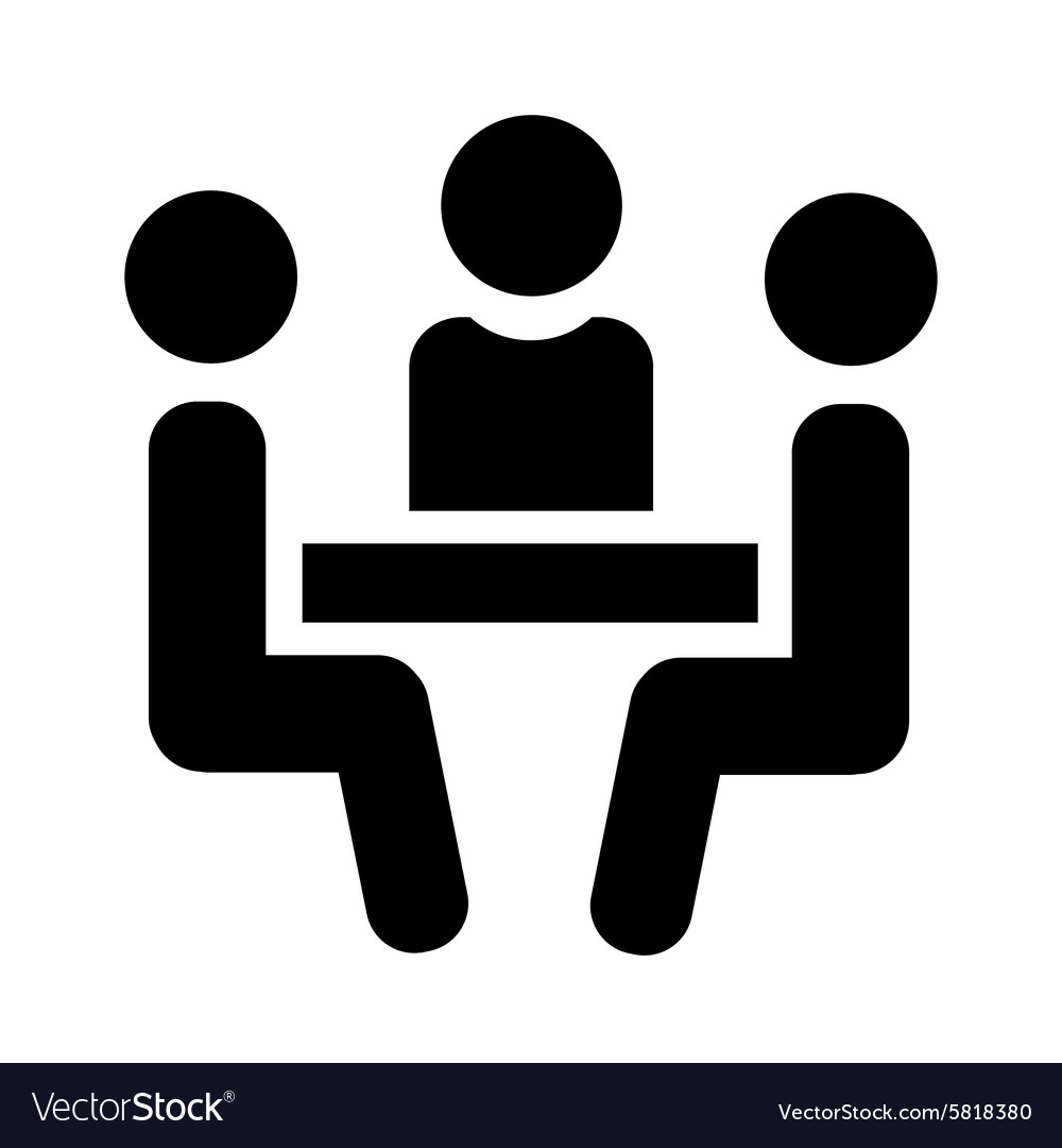 People sitting at table vector