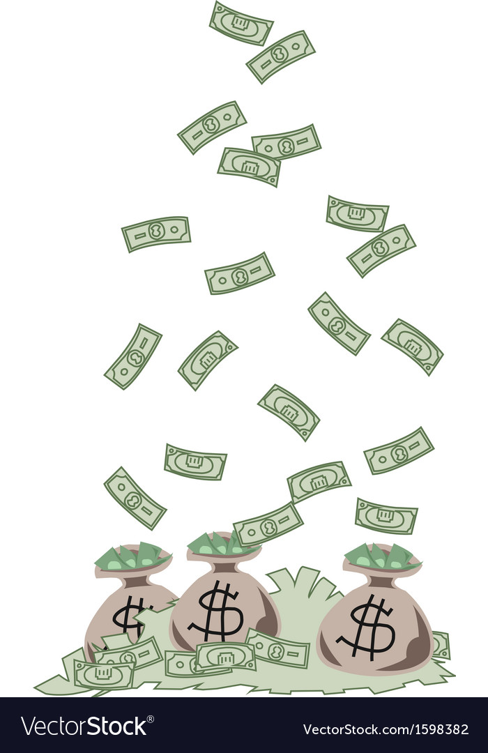 Money fall vector