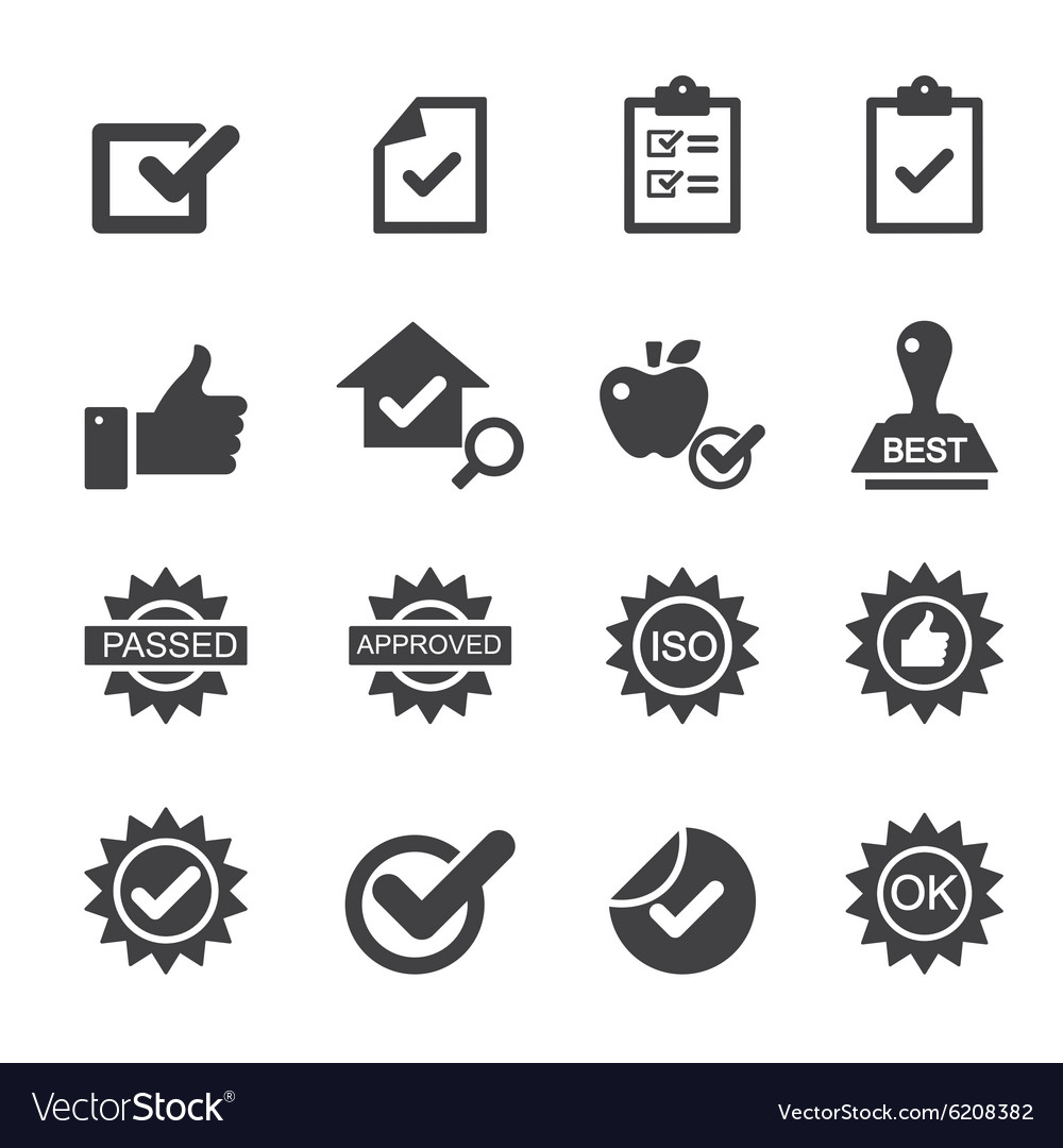 Quality control icons vector