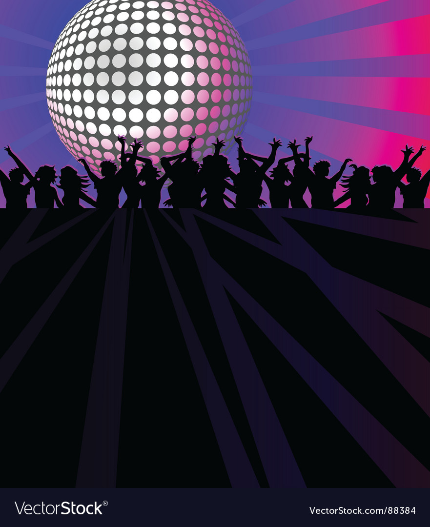 Dance club vector