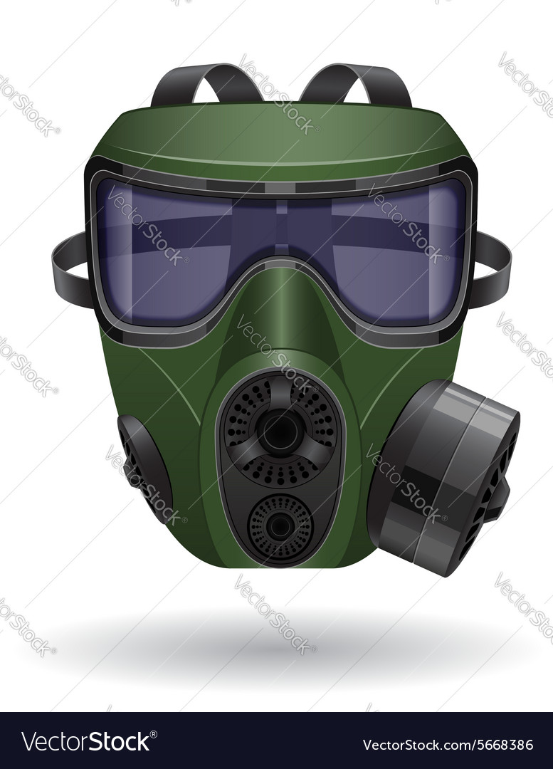 Gas mask 05 vector