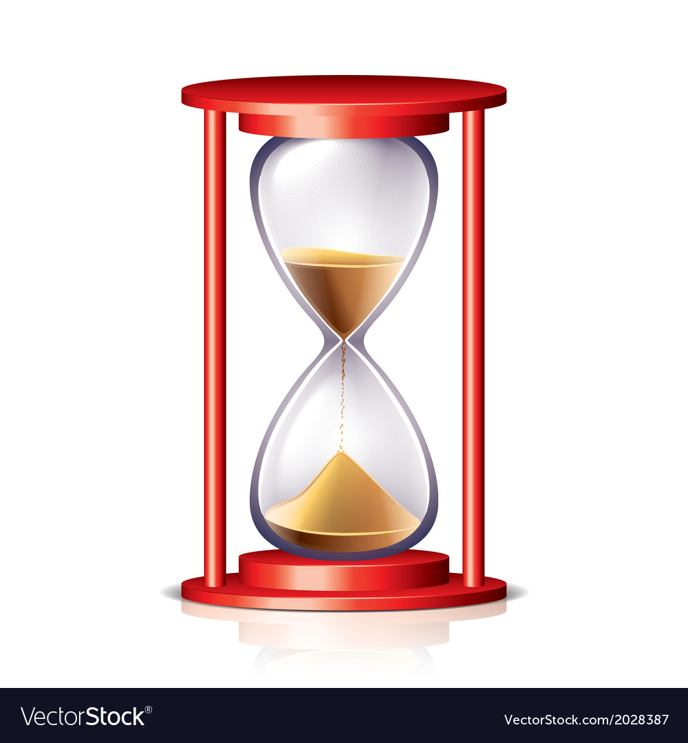 Object hourglass vector
