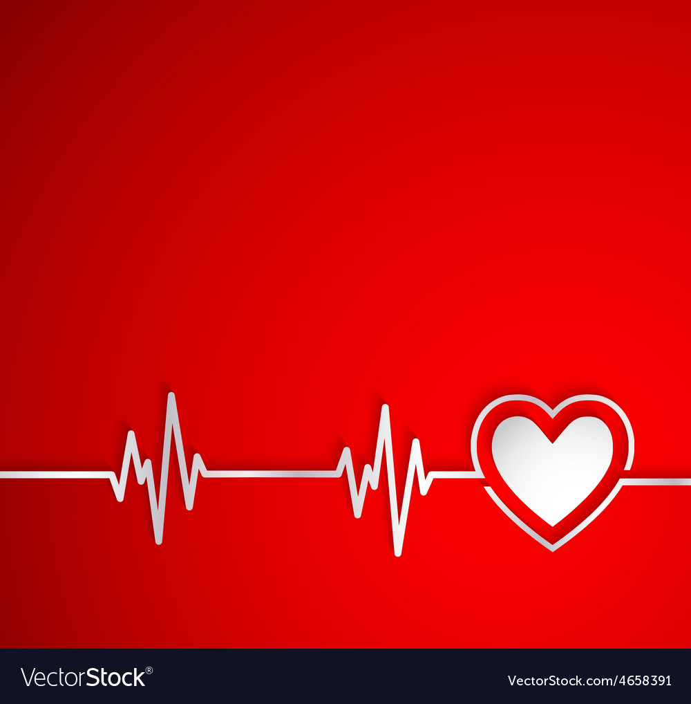 Heart beat with heart shape useful as medical vector