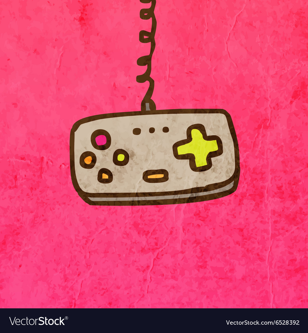 Game controller cartoon vector