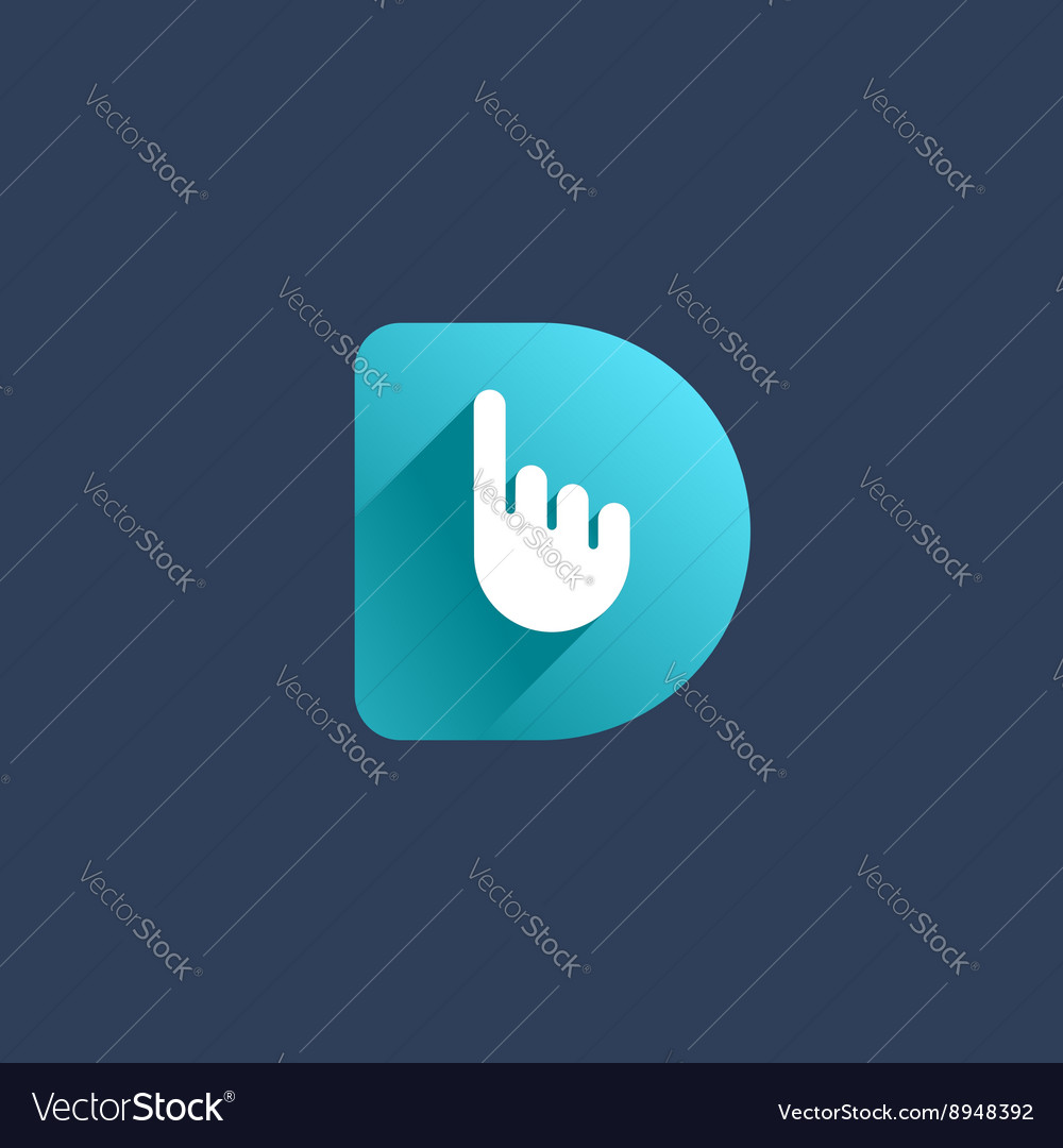 Letter d hand logo icon design template elements vector