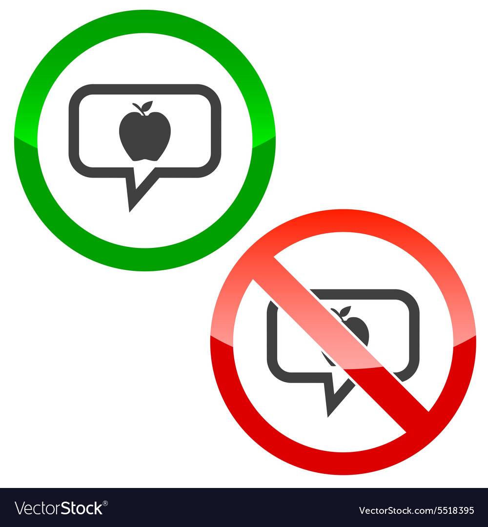 Apple message permission signs vector