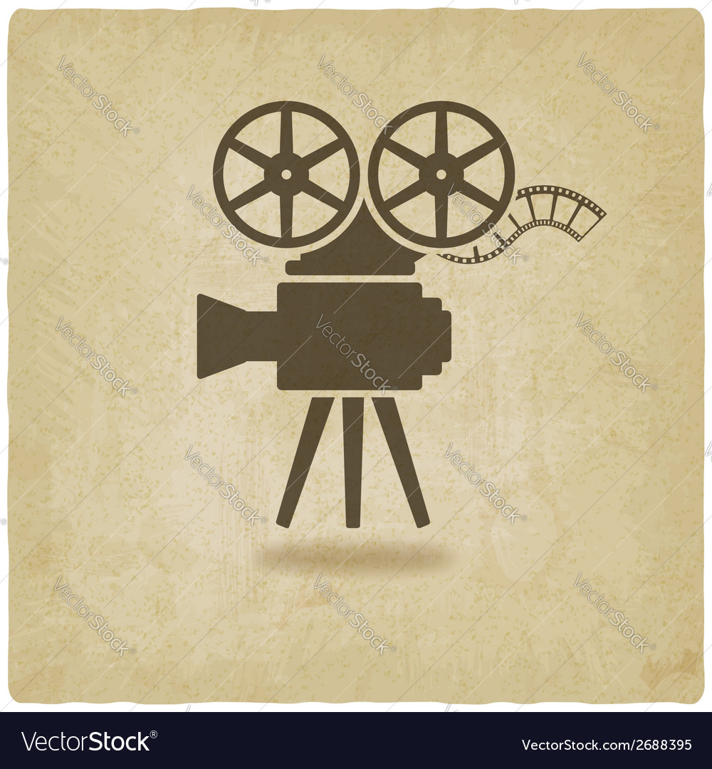 Camera old background vector
