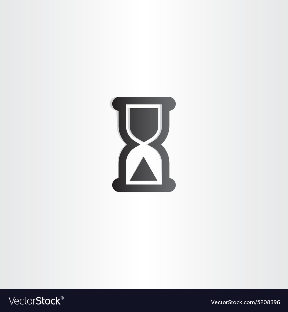 Black sand clock icon time concept vector