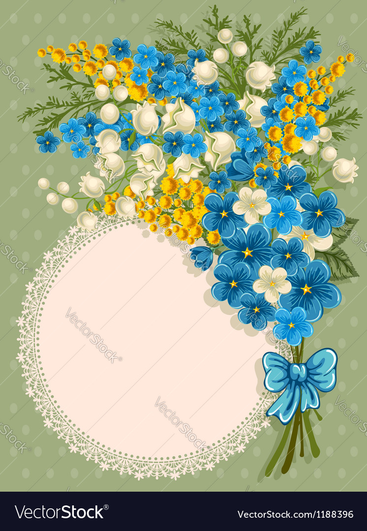 Cute greeting card vector