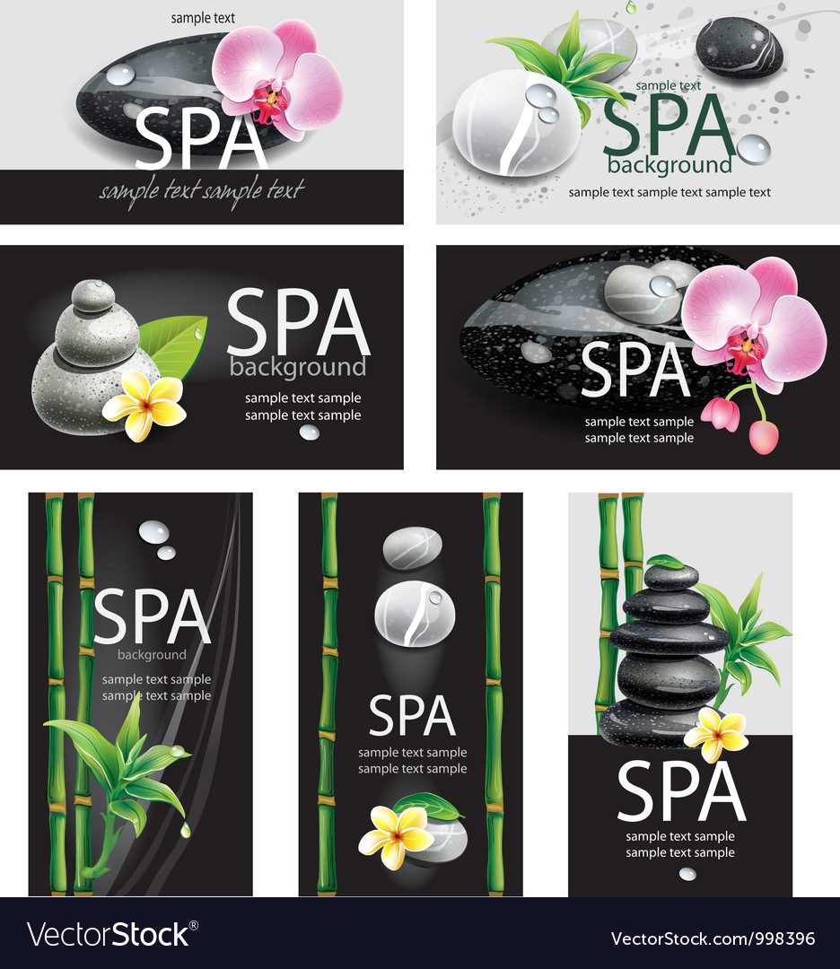 Set of cards for spa salon vector