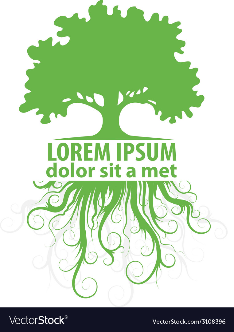 Tree logo template vector