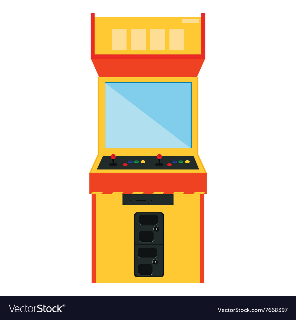Arcade game machine vector