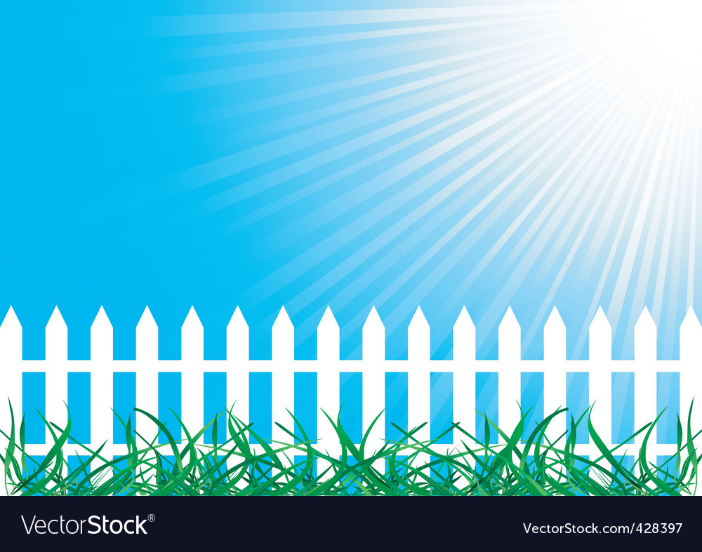Background with fence vector
