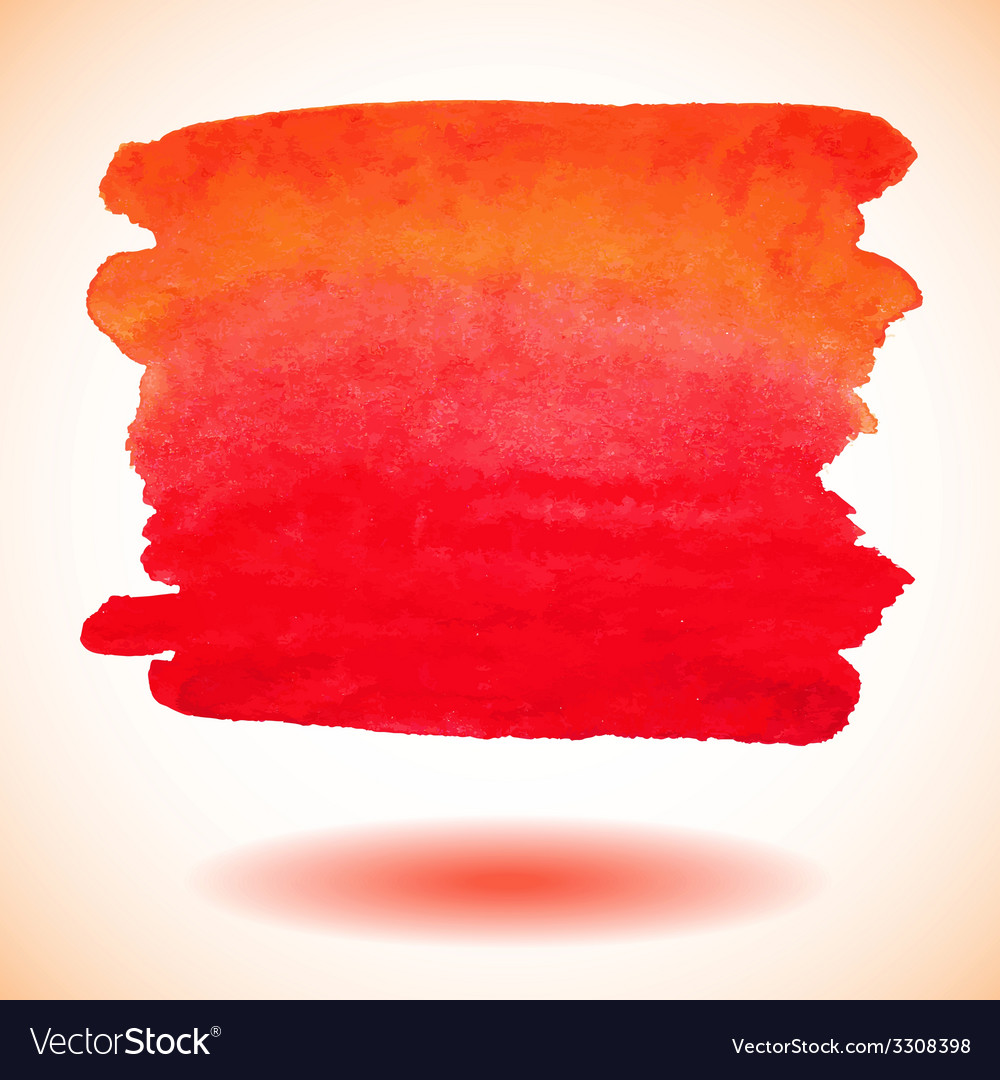 Red isolated watercolor paint banner vector