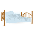 Unmade bed isolated vector image vector image