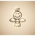 hand drawn angel vector image vector image