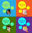 Different people thinking with speech bubbles vector image vector image