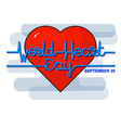 world heart day background vector image