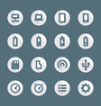 flat style various device icons set vector image