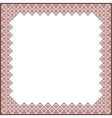 Square Pattern for embroidery vector image vector image