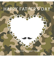 Happy fathers day on camouflage pattern vector image