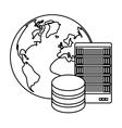 figure global database server banner icon vector image