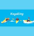 kayaking set vector image