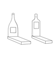 Monuments to alcoholics vector image