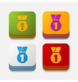 square button medal vector image