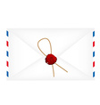 Wax sealed letter envelope vector image