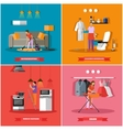 Cleaning and home service concept vector image