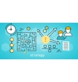 Strategy Business Background vector image