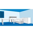 interior of living room vector image