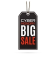 Cyber Monday sale realistic paper price tag on vector image