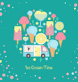 ice cream bar in flat style vector image