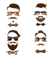 hipster outfit combinations set vector image