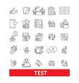 Test examexamination quiz assessment vector image