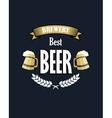 Retro beer emblem or banner vector image